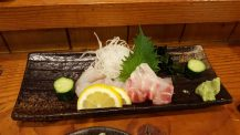 Sashimi, sea bream