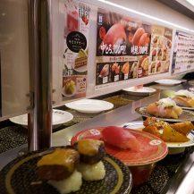 100 yen sushi train
