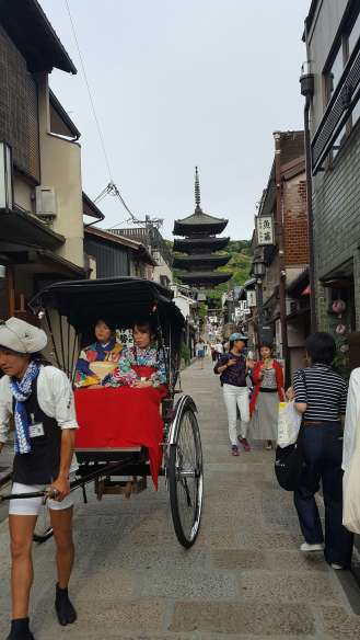 Hokanji Temple in the background