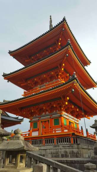 The pagoda at Kiyomizu-dera Temple