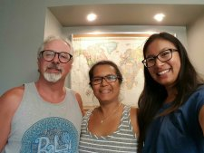 Darcy and Devora, some couch surfers who hosted me in Weyburn