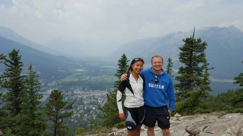 Hiking with Justin in Banff